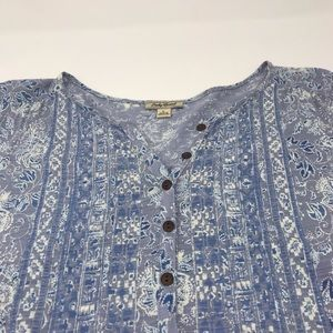 Lucky Brand Peasant Blouse Pullover Size Large